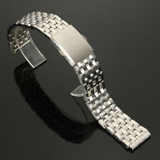 18/20/22mm Stainless Steel Straight End Watch Band Hollow Strap Bracelet