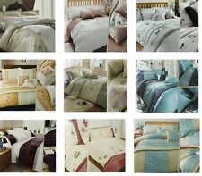 SALE LUXURY EMBELLISHED DUVET QUILT COVER BEDDING SET PILLOWCASE DOUBLE KING NEW