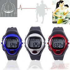 Pulse Heart Rate Monitor Stopwatch Alarm Calories Counter LED Fitness Watch
