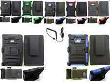Belt Clip Holster Kickstand Hybrid Case+Charger For LG Optimus Dynamic L38c/L38g
