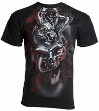 HYBRID Mens T-Shirt SKULLS DRAGON Tattoo Biker UFC ROAR XZAVIER M-3XL $28