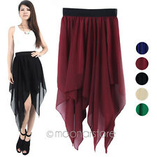 Sexy Chiffon Pleated Retro Boho Maxi Dress Elastic Waist Skirt Dress Lady