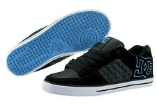 DC CHASE XE 302101-KQP BLACK TURQUOISE PLAID SUEDE SKATEBOARDING SHOES MEN