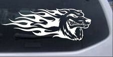 Wolf With Tribal Flames Car or Truck Window Laptop Decal Sticker