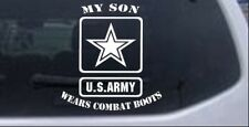My Son Wears Combat Boots Army Car or Truck Window Laptop Decal Sticker
