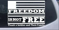 Freedom is NOT Free Car or Truck Window Laptop Decal Sticker
