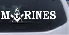 Marines with Masonic Square and Compass Car or Truck Window Laptop Decal Sticker
