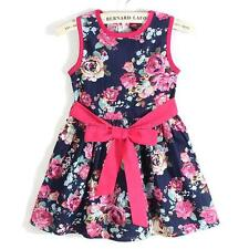 New Girls Kids Clothing Toddlers Party Tutu Princess Colorful Floral Skirt Dress