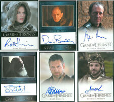 Ygritte Rose Leslie Stannis Karstark Mero Renly Frey Game of Thrones 3 Card Auto
