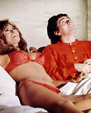 RAQUEL WELCH LYING ON BED IN BRA PANTIES DUDLEY MOORE BEDAZZLED PHOTO OR POSTER