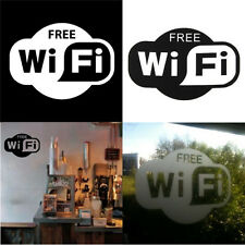Free WiFi Vinyl Decal Sign Business Cafe Bar Pub Restaurant Mall Window Stickers