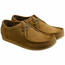 Clarks Mens Gunn Beige Casual Leather Lace Up Sneakers Shoes