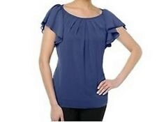 Randolph Duke SPIRITED Soft Pleated Top BLUE or DARK GRAY XS and Small