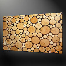 WOOD LOGS MODERN CANVAS PRINT POSTER MANY SIZES FREE UK P&P