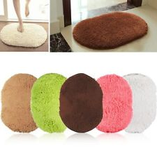 Non-slip Bedroom Floor Soft Plush Shaggy Mat Bath Bathroom Plain Foam Rug Carpet