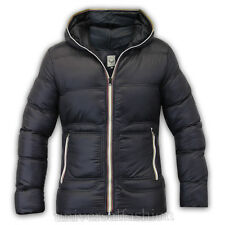 Mens Jacket Brave Soul Coat Padded Hooded Puffer Nylon Casual Lined Winter New