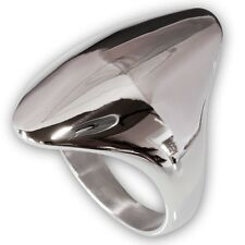 Classic Design OVAL RING Stainless Steel Silver Fashion Blogger Vintage Gothic
