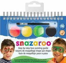 Snazaroo 4 Colour Step by Step Face Painting Kit w/ Booklet for Fancy Dress