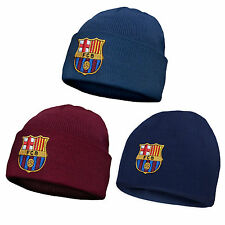 FC Barcelona Official Football Gift Knitted Bronx Beanie Hat Crest (RRP £9.99!)