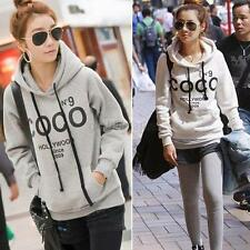 Korean Women Hoodie COCO Jacket Coat Sweatshirt Outerwear Hooded Sweater S/M/L