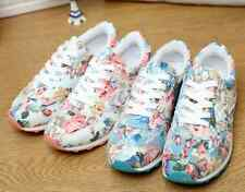 Fashion floral leisure breathable female canvas shoes 2 color