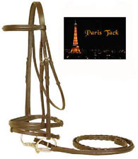 Paris Tack Padded Bridles with Flash & Laced Reins