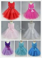 New Flower Girl Princess Pageant Wedding Bridesmaid Party Communion Tulle Dress