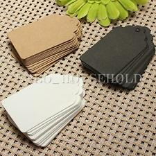 Label Paper Tag Gift Hang Card Price Blank Karft 100pcs Luggage Wedding Party