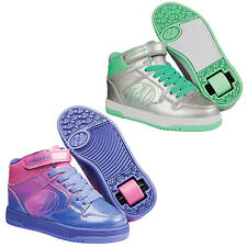 NEW HEELYS FLY 2 SUPER SHINY PATENT DESIGN GIRLS HI-TOP POWER STRAP SKATES SHOES