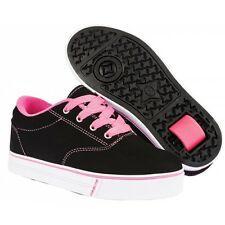 Heelys Launch 2.0 -Black Nubuck/ Pink Shoes +FREE HOW TO DVD