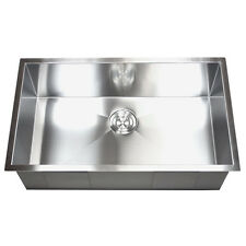 Stainless Steel Single Zero Bowl Undermount Kitchen Sink
