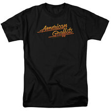 American Graffiti 1973 Comedy Movie Lucas Neon Logo Adult T-Shirt Tee