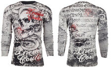 Xtreme Couture AFFLICTION Mens THERMAL T-Shirt TOOTHACHE Biker MMA UFC M-3XL $58