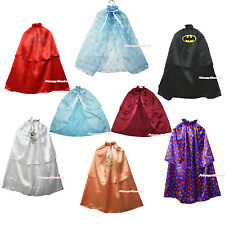 HALLOWEEN PARTY Costume Satin Cape Shawl Coat Girl Clothing Movie Character 1-8Y