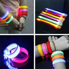 LED Light Up Glow Glowing Wristband Bracelet Disco Party Dance Bar Multi Color