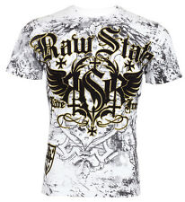 Raw State AFFLICTION Men T-Shirt LIVE FREE Cross Wing Tattoo Biker UFC S-3XL $40