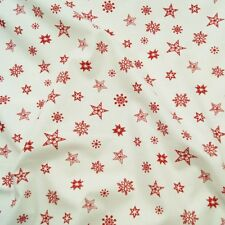 Christmas Stars And Snowflakes 100% Cotton Fabric