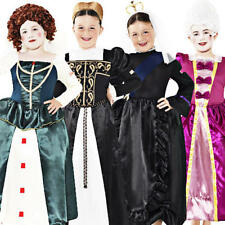 Medieval Queen Girls Fancy Dress Victorian Book Character Childrens Kids Costume