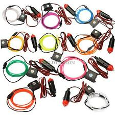Flexible Neon Cold Light Glow Strip Rope EL Wire with 12V Inverter for Car WT7n