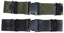 NEW US ARMY STYLE WEBBING QUICK RELEASE LC-2 PISTOL BELT Green or Black 2""