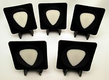 """5 """"No Contact/Caseless"""" Guitar Pick Displays With Easels - 100% MADE IN USA!"""