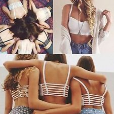 Latest Women Sexy Padded Bra Crop Tops Blouse Vest Cut Out Shirt Beach Tank