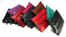 REAL LEATHER LADIES LONDON LEATHERGOODS ZIP COIN PURSE SOFT NAPPA LEATHER 010590