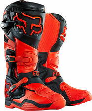 NEW FOX RACING COMP 8 MX DIRTBIKE MOTOCROSS OFFROAD BOOTS ORANGE ALL SIZES