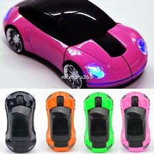 Car Shape 2.4G Wireless Optical Mouse Mice 6 Colors For Laptop PC USB Receiver
