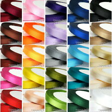 Satin Ribbon Single Sided Full Roll : 6mm 10mm 15mm 20mm 25mm 38mm 50mm 25 Yards