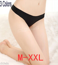 3 Colors Sexy Womens Traceless Low Waistline Tangas Panties Underwear Thongs New