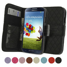 Executive Quilted Leather Wallet Case for Samsung Galaxy S4