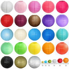 "Multicolor Chinese Lampshades Paper Lantern Wedding Party Decor 4""8""10""12""14'16"""