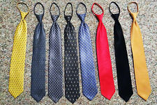 RARE 23 INCH BIG TALL ZIPPER TIE BY DICAPRI 100% POLYESTER - DIFFERENT DESIGNS